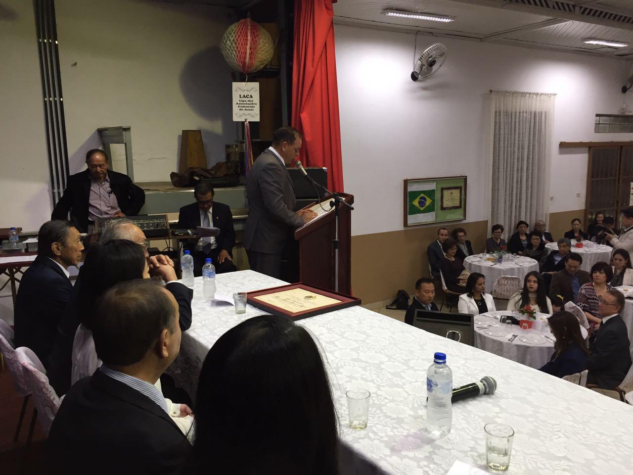 Fotos Sessão Solene de Entrega de Titulo de Cidadão Emérito de Assaí aos Senhores Mário Hirakuri e Takeo Tsumanuma