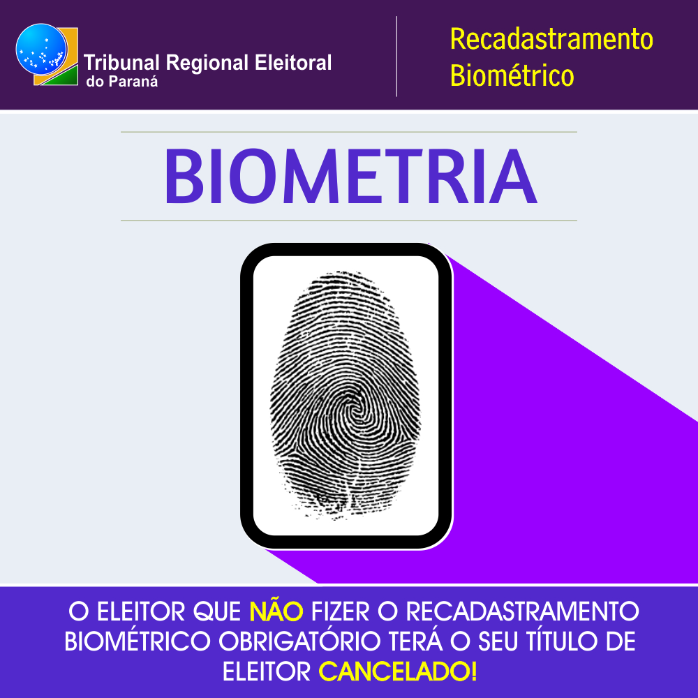 RECADASTRAMENTO BIOMETRICO
